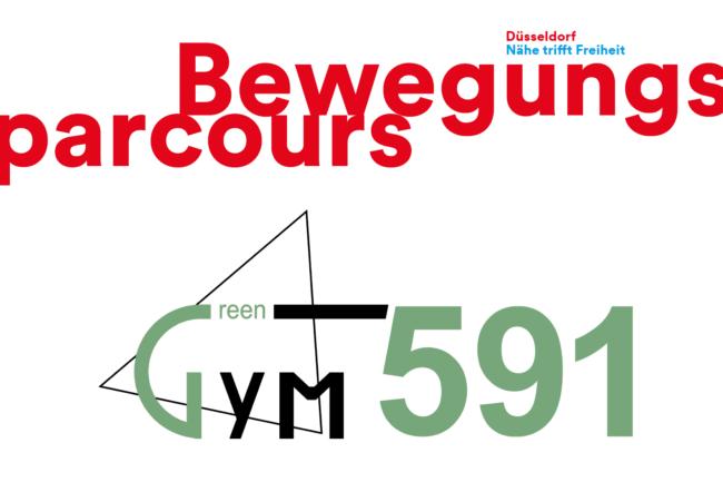 Schriftzug Bewegungsparcour und GreenGym 591